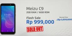Flash Sale Meizu C9 900 Ribuan Baru Dimulai 20 Menitan, Langsung Ludes
