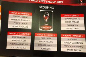 Jadwal Grup A Piala Presiden 2019 - Persib dan Persebaya Akan Berhadapan dalam Laga Pembuka