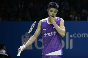 Hasil Indonesia Open 2019 - Momen Chou Tien Chen dan Tunggal Putra Denmark Tergeletak di Lapangan Istora Usai Duel