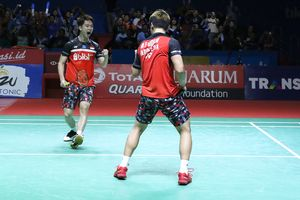 Hasil Indonesia Open 2019 - Marcus/Kevin Menangi Duel Sengit Lawan The Daddies!