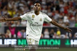 VIDEO - Gol Tendangan Bebas Indah Rodrygo, Neymar Baru Real Madrid