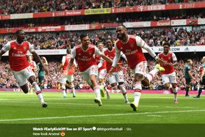 Babak I Arsenal Vs Burnley - The Gunners dan Burnley Berbagi Angka 1-1