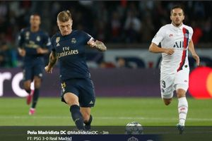 Di Balik Kekalahan Real Madrid dari PSG: Nihil Tendangan Tepat Sasaran