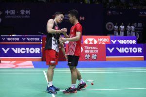 China Open 2019 - Duel Sengit Anthony dan Momota Diakhiri dengan Tukar Kaus