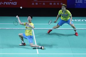 Kevin Sanjaya Kembali Tengili Duo Menara China di BWF World Tour Finals 2019