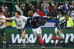 Sejarah Hari Ini - Handball Thierry Henry Bikin Irlandia Sakit Hati
