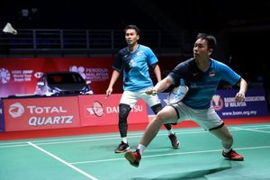 Hasil Indonesia Masters 2020 - Ahsan/Hendra Segel Satu Tempat di Final Usai Menangi Laga Derbi Melawan FajRi