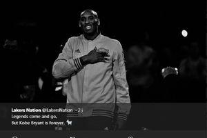 Fans LA Lakers Berkumpul di Staples Center untuk Kobe Bryant