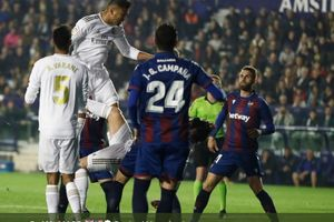Babak I - Tim Tandang Dominasi Laga, Levante Vs Real Madrid Masih 0-0
