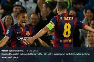 On This Day - Aksi Songong Neymar Bantu Barcelona Juara Copa del Rey