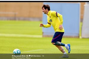 Lionel Messi Tularkan Antusiasme kepada Pemain Barcelona Selama Latihan