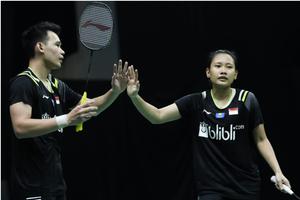 Hasil Swiss Open 2021 - Cuma 38 Menit, Rinov/Pitha Bikin Ganda Campuran Indonesia Merana