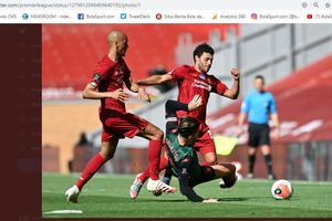 Hasil Babak I - Tanpa Roberto Firmino, Liverpool Gagal Cetak Gol