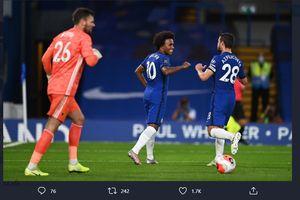 Hasil Liga Inggris - Willian Cetak Rekor, Chelsea Pecundangi Watford