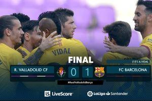 Hasil Liga Spanyol - Menang Tipis, Barcelona Cuma Terpaut Satu Poin dari Real Madrid