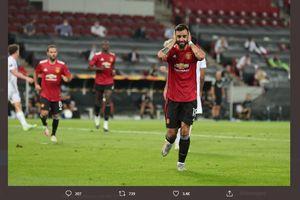 Hasil Liga Europa - Man United ke Semifinal berkat Penalti Bruno Fernandes Menit 95