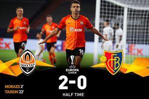 Hasil Babak I - Shakhtar Donetsk Unggul 2-0 atas Basel