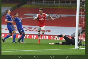 Hasil Piala Liga Inggris - Tanpa Aubameyang, Arsenal Singkirkan Leicester City
