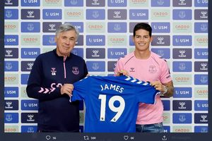 Everton Nikmati Keuntungan dari Transfer Gratis James Rodriguez