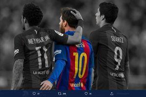 Luis Suarez Hengkang dari Barcelona, Trio MSN Tinggal Sisakan Lionel Messi