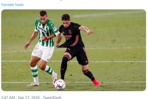 Hasil Babak I - Kena Comeback, Real Madrid Tertinggal di Paruh Pertama