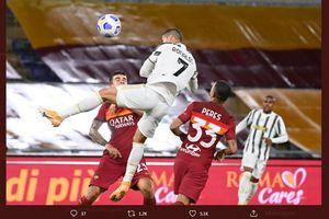 VIDEO - Cristiano Ronaldo Cetak Gol dengan Mengawang di Udara Lagi