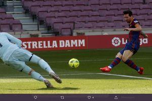 VIDEO - Peluang Lionel Messi 90 Persen Gol Dihalau Courtois sambil Terbang