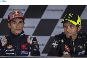 Ejekan atau Pujian? Marc Marquez Sebut Valentino Rossi Ahlinya Urusan Ini