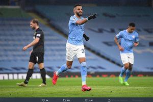 Cetak Hat-trick dan Jadi MOTM di Laga Man City Vs Burnley, Riyad Mahrez Ukir 4 Catatan Menawan