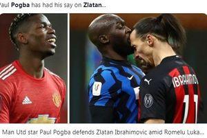 Paul Pogba Bela Ibrahimovic soal Tudingan Rasisme kepada Lukaku