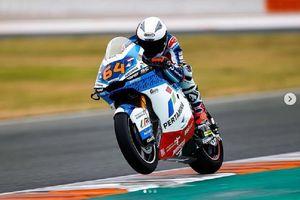 Pembalap Keturunan Indonesia Tercepat di Tes Valencia Moto2 2021