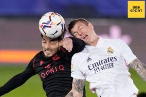 Real Madrid dan Real Sociedad Irit Tembakan, Skor Kacamata Hiasi Babak Pertama