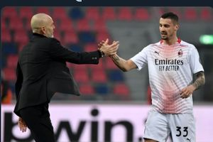 Hasil Babak I - Ibrahimovic Merengut di Tribune, AC Milan Unggul Berkat Tendangan Bebas Kece
