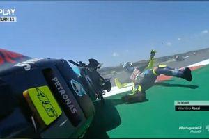 Hasil MotoGP Portugal 2021 - Penderitaan Valentino Rossi Belum Berakhir, Petronas Yamaha Gigit Jari Lagi