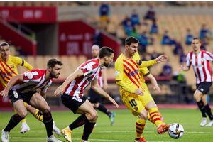 Lionel Messi Ulur-ulur Waktu, Athletic Club Bikin Barcelona Bungkam di Babak I