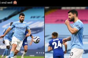 VIDEO - Gagal Penalti Panenka, Sergio Aguero Nyengir dan Bikin Pep Guardiola Emosi