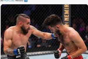 Hasil UFC 262 - Jagoan Brasil Lumat Rekan Khabib Meski Dipotong Gajinya
