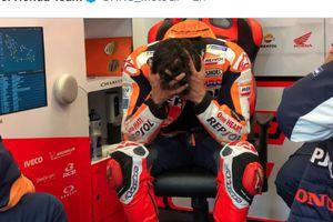 Marc Marquez Dibuat Murka Saat Jatuh 2 Kali pada MotoGP Prancis 2021