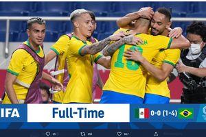 Olimpiade Tokyo 2020 - Pecundangi Meksiko, Brasil Jadi Tim Paling Sering Mentas di Final