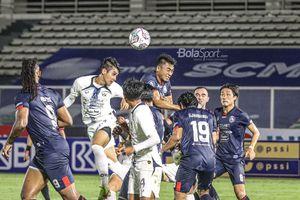 Arema FC Vs PSIS Semarang Masih Sama Kuat di Babak Pertama