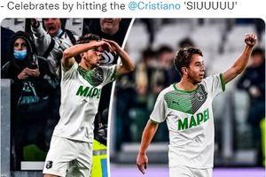 Cetak Gol Menit 95, Pahlawan Sassuolo Tiru Selebrasi Cristiano Ronaldo di Markas Juventus