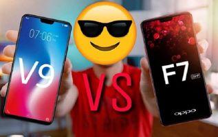 Perbandingan Spesifikasi Vivo V9 dan Oppo F7, Lebih Mantap Mana?