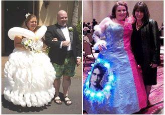 Bukan Elegan Atau Indah, Gaun Pernikahan Ini Justru Terlihat Unik