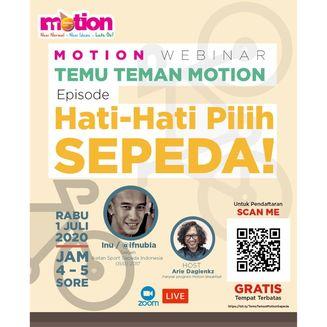 Webinar Temu Temen Motion: Hati-Hati Pilih Sepeda!
