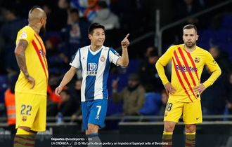 Hasil Liga Spanyol -  Gol Maradona dari China Gagalkan Kemenangan 10 Pemain Barcelona