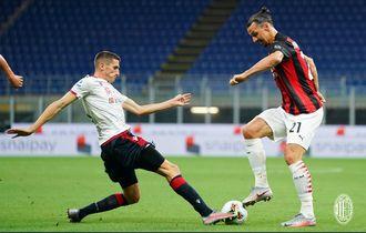 Hasil Liga Italia - Gagal Penalti, Zlatan Ibrahimovic Tembus 10 Gol dan Bawa AC Milan Menang