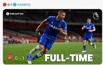 Hasil Liga Inggris - Gol Bunuh Diri Berikan Everton Kemenangan Perdana di Kandang Arsenal Usai 25 Tahun