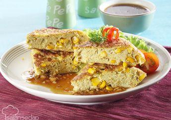 Omelet Jagung Saus Hitam Mudah Dibuat Bikin Sarapan Nggak Cukup Sekali