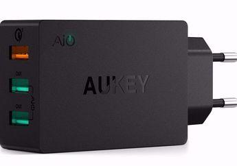 AUKEY PA-T14: Hadirkan Tiga Port USB Standar A Dalam Satu Charger