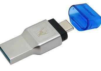 Kingston MobileLite Duo 3C:   Dengan Koneksi USB Standard-A dan Type-C